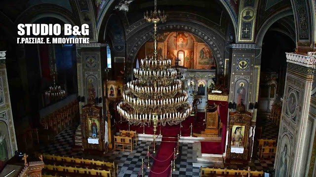 Πλημμύρισε ο ιστορικός ναός του Αγίου Γεωργίου στο Ναύπλιο (βίντεο)