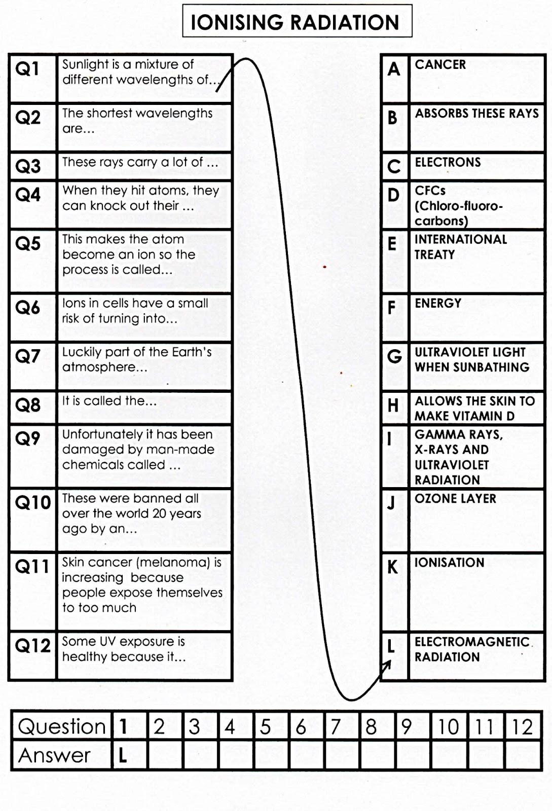 100 Free Science Worksheets Link
