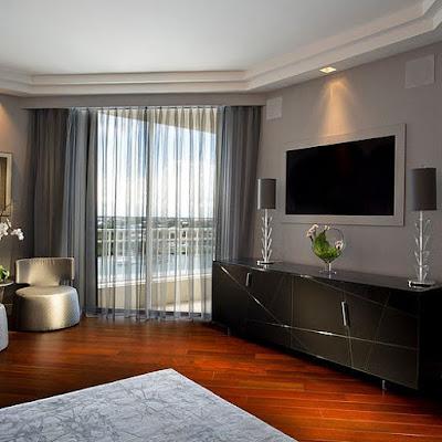 Um apartamento com decoração futurista