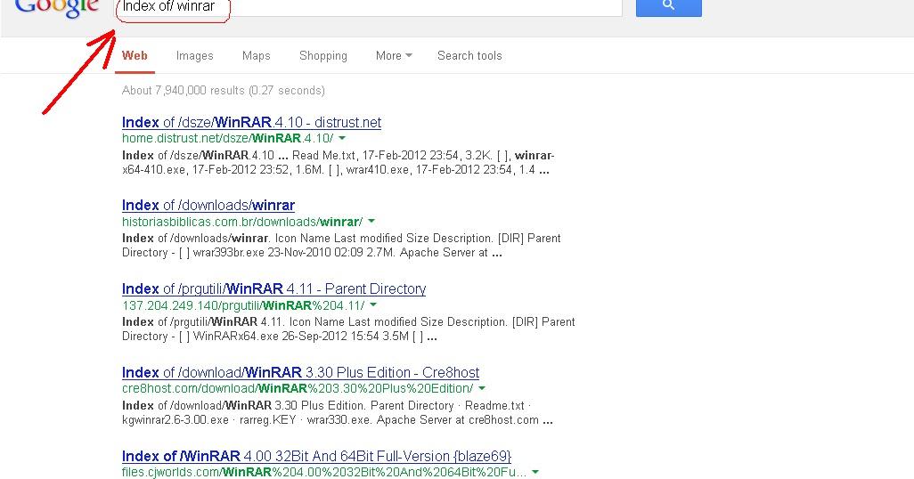 Only Blogging: Cara Mudah Download File Direct Link dengan Index of/