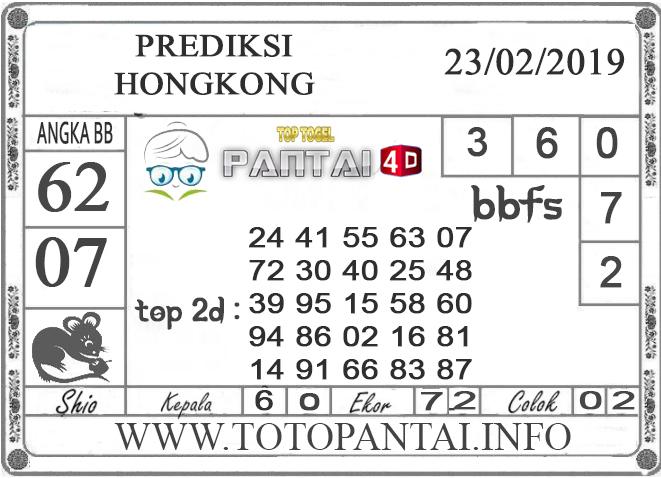 """Prediksi Togel """"HONGKONG"""" PANTAI4D 23 FEBRUARI 2019"""