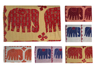 Elephant Patchwork Kantha Quilt in Wholesale Price
