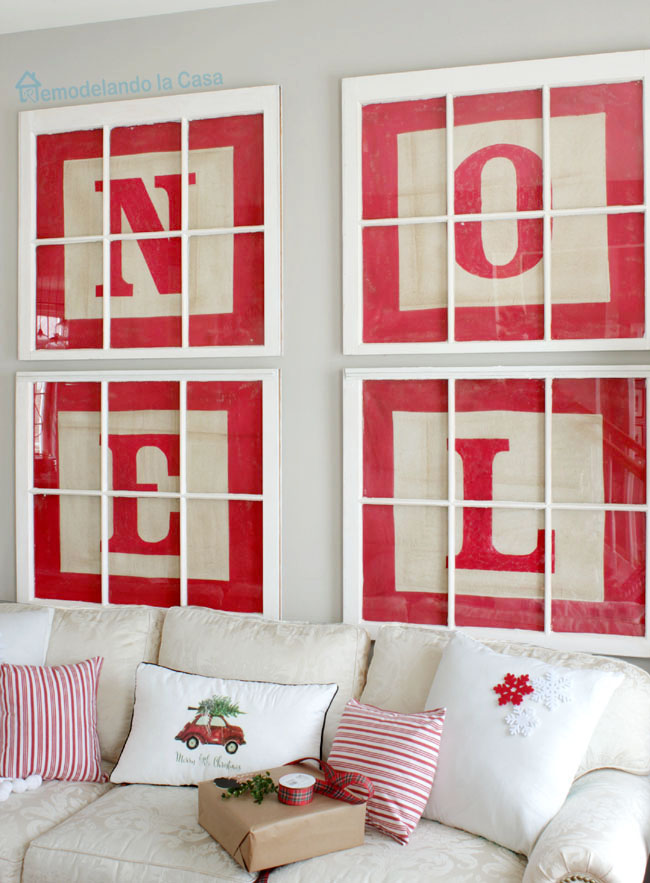 how to make big alphabet block letter art - Noel for Christmas