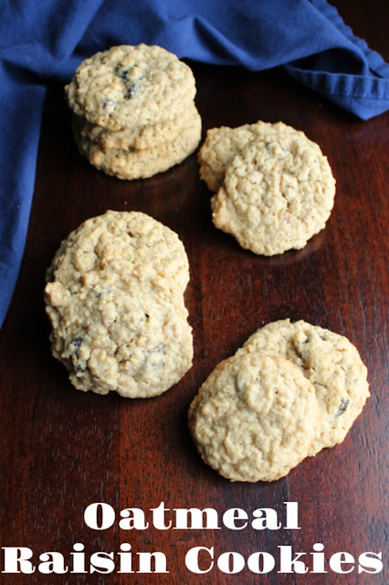 Soft and chewy old fashioned oatmeal raisin cookies with a hint of cinnamon and spice. These cookies taste like they came straight from grandma's kitchen.