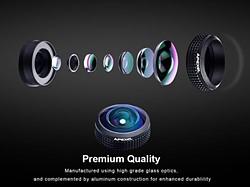 Apexel 8mm fisheye lens balıkgözü objektif 3