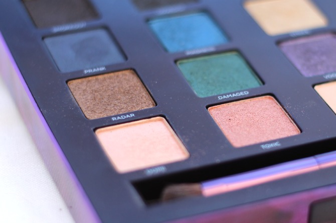 Close up of Vice 2 palette