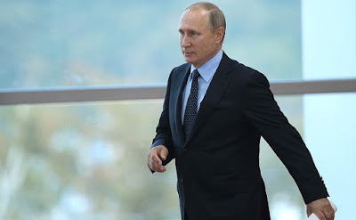Vladimir Putin before the State Council Presidium meeting on the comprehensive development of the Russian Far East.