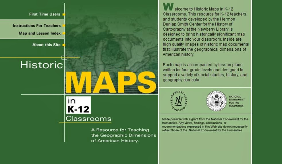 Historic Maps in K-12 Classrooms- A Resource for Teaching the Geographic Dimensions of American History.