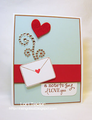 A Note to Say I Love You-designed by Lori Tecler-Inking Aloud-stamps and dies from Verve Stamps