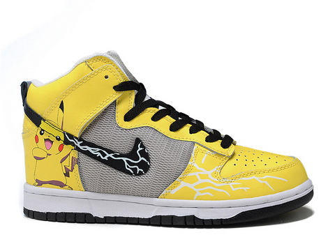 new styles 54fc2 f7778 ... where to buy nike dunk yellow pikachu high top sneaker for sale cute  d581e 6cbc3