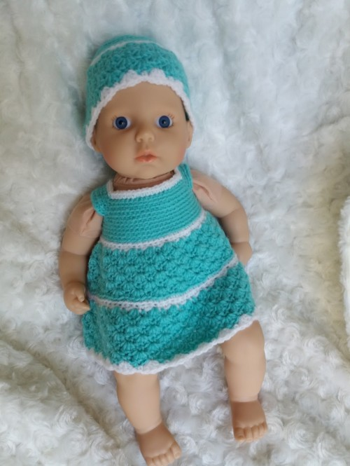 Annabell Crochet Dress & Hat - Free Pattern