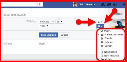 how to hide birthday on facebook account