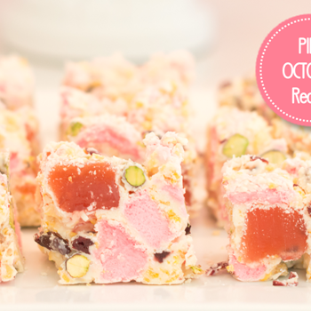 Cake it Pretty: Pink Gourmet Rocky Road in Honor of Pink October