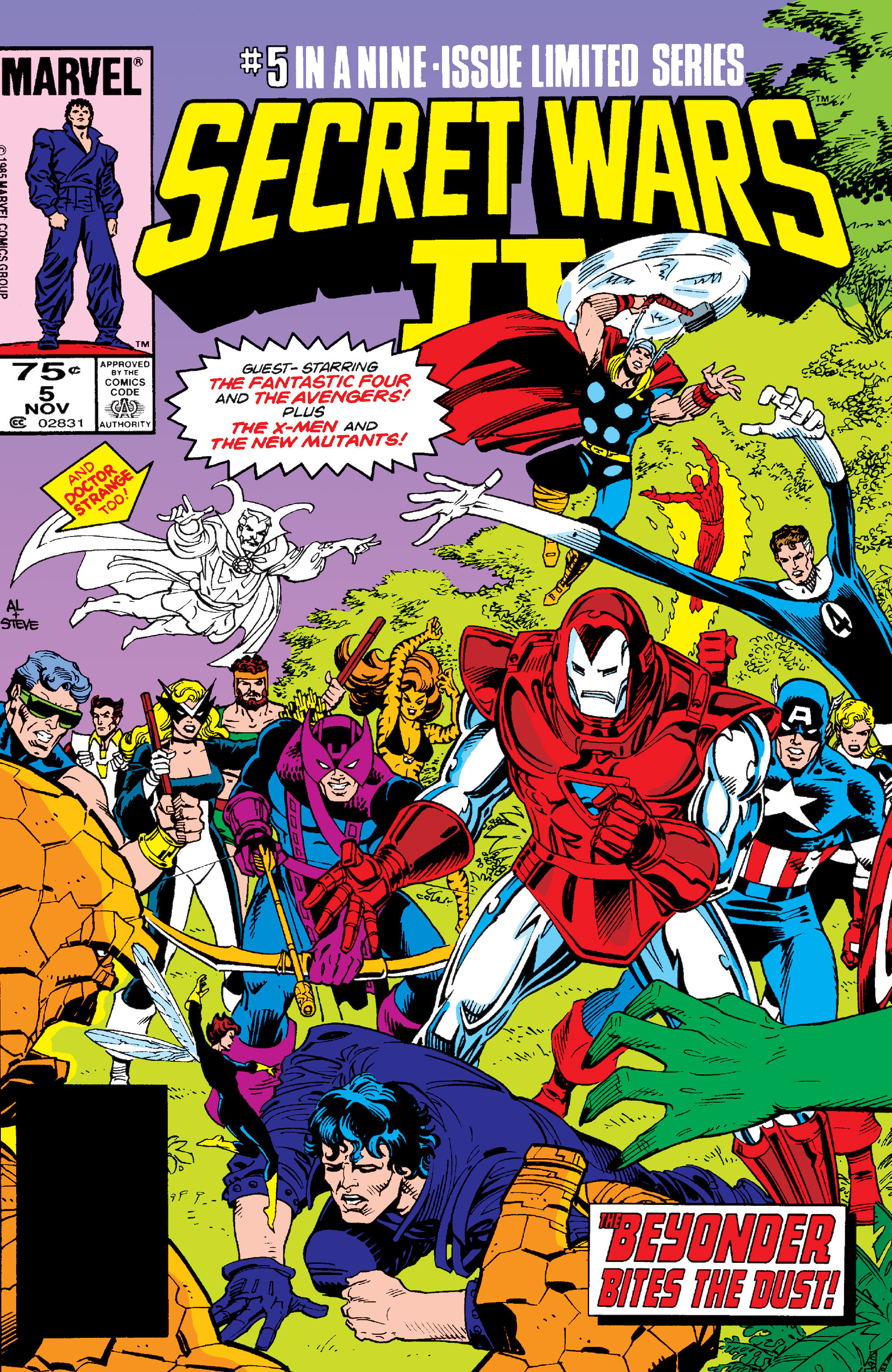 Read online Secret Wars II comic -  Issue #5 - 1
