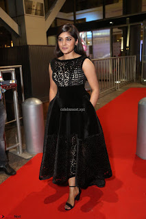 Niveda Thomas Black Sleeveless Cute Dress at 64th Jio Filmfare Awards South 2017 ~  Exclusive 127.JPG