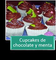 CUPCAKES DE CHOCOLATE Y MENTA