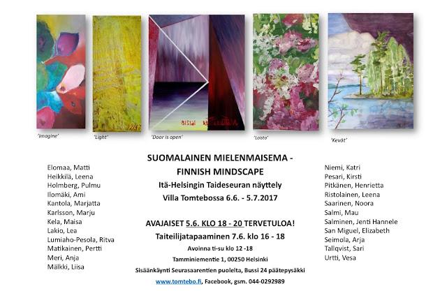 Itä-Helsingin Taideseuran näyttely Villa Tomtebossa 2017