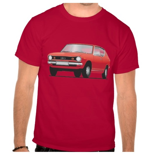 datsun, nissan, cherry, e10, 100A, 120A, t-shirt, red