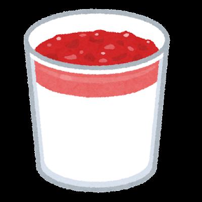 パンナコッタのイラスト(カップ)