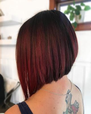 balayage red on dark hair 2019
