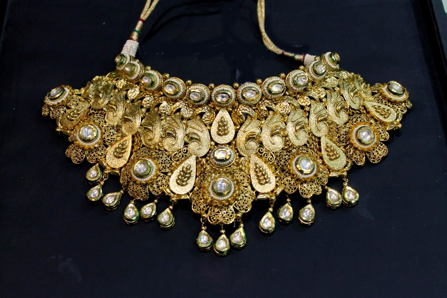 latest heavy kundan bridal set 2015