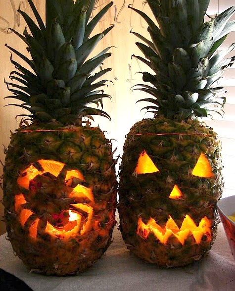 Tropical Halloween with Pineapples