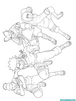 Konoha Ninja Printable Kids Coloring Pages