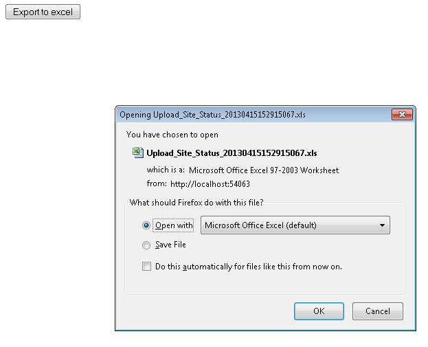 How to Export a Data Table to Excel - Asp Net, XML