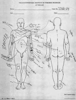 Diagram of Clayton Lockett's 2nd autopsy
