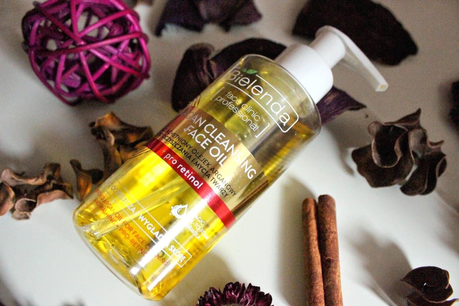 Bielenda, ARGAN CLEANSING FACE OIL Uszlachetniony olejek arganowy do oczyszczania i mycia twarzy + pro-retinol