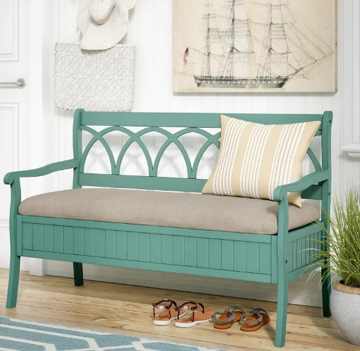 Teal Storage Bench