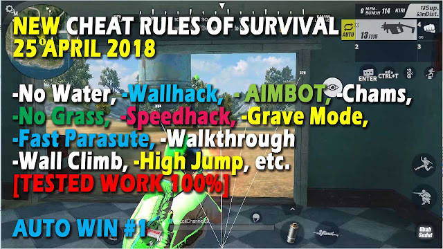 Cheat Rules of Survival Histidin 6.0 Update 25 April 2018