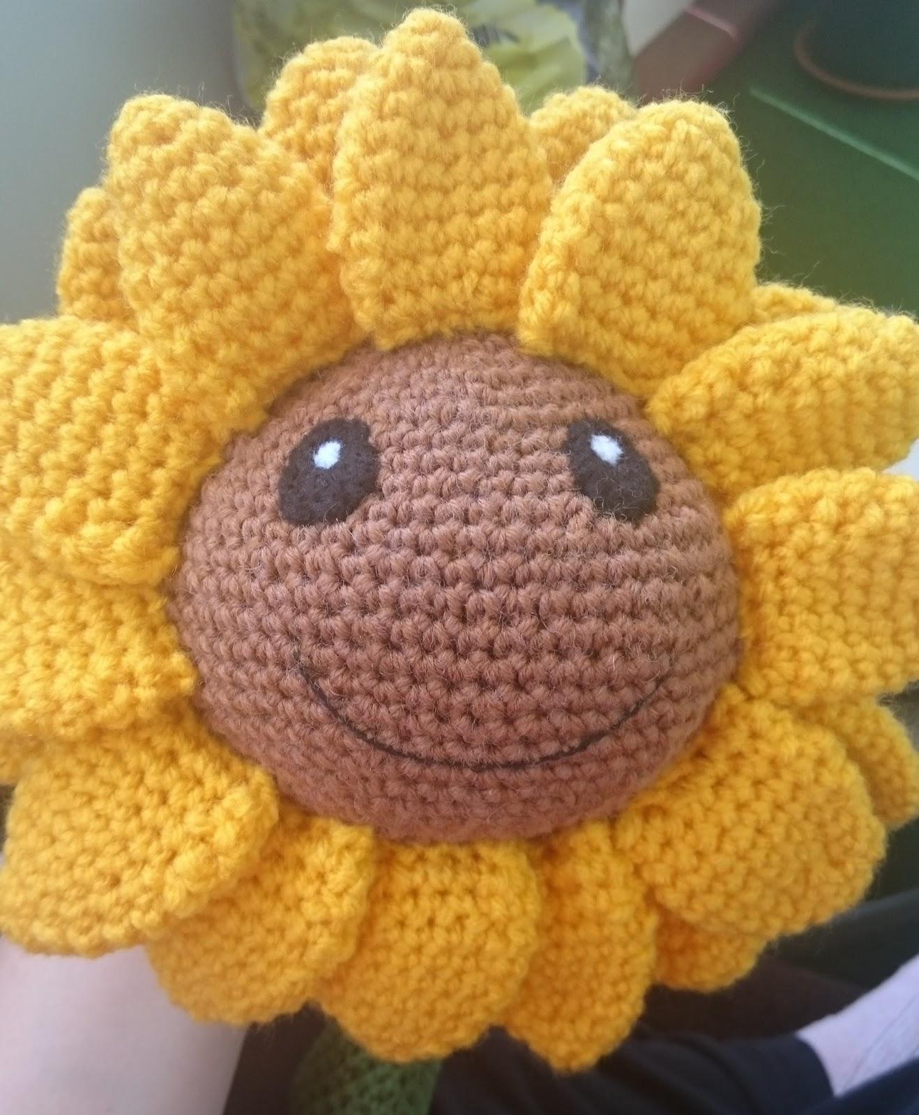 Yarnyessi Häkeln Mit Herz Sonnenblume