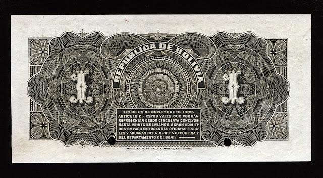 BOLIVIA Money 1 Boliviano