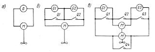 Схемы одновальных ГЭУ на постоянном токе