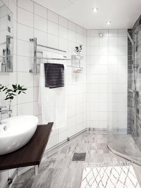 jasna łązienka, biała łazienka,