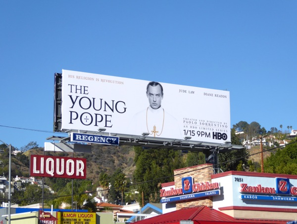 Young Pope HBO limited series billboard