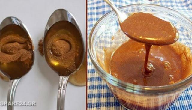 μέλι με κανέλα