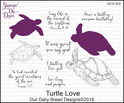 Stamp/Die Duos: Turtle Love