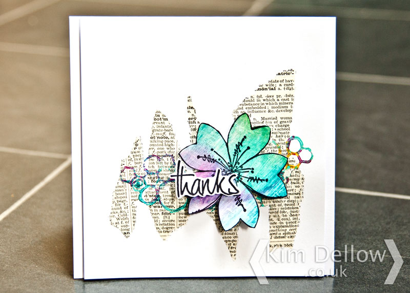 Greeting card using products from PaperArtsy