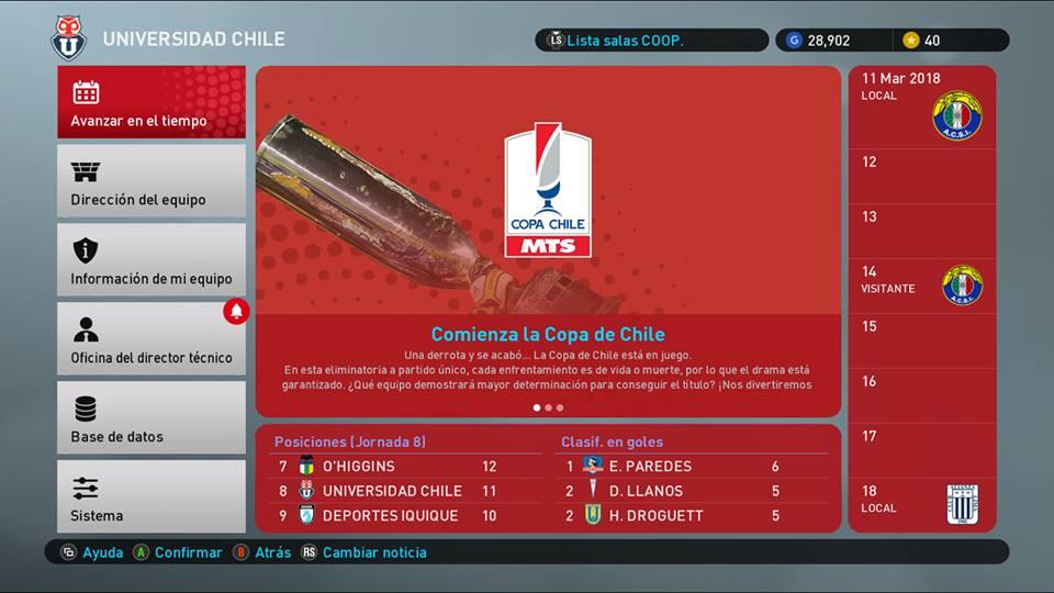 PES 2019 Chilean League Mod Campeonato Scotiabank Season