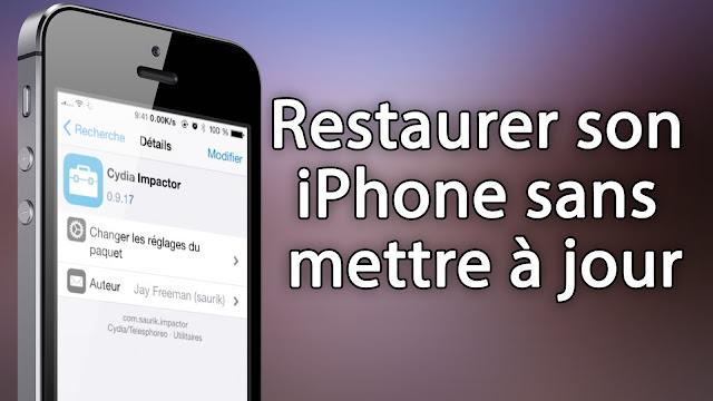 restaurer iphone sans itunes