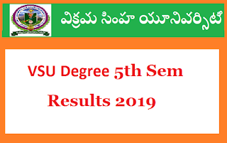 Manabadi VSU Degree 5th Sem Results 2019
