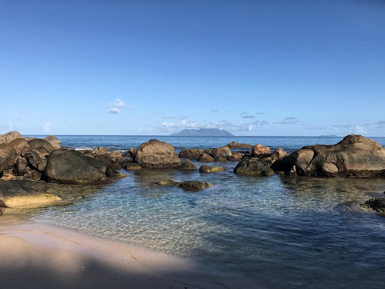 Anse Carana Beach at Mahe Island, Seychelles