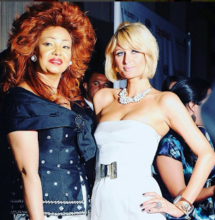 Chantal Biya and Paris Hilton