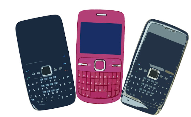 illustration of three cell phones