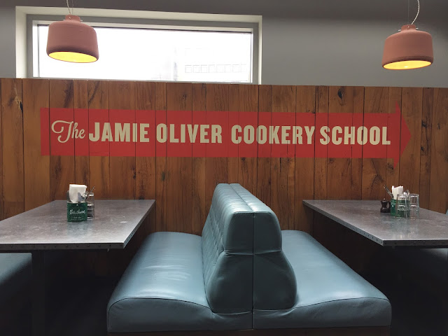 The Jamie Oliver Cookery School sign