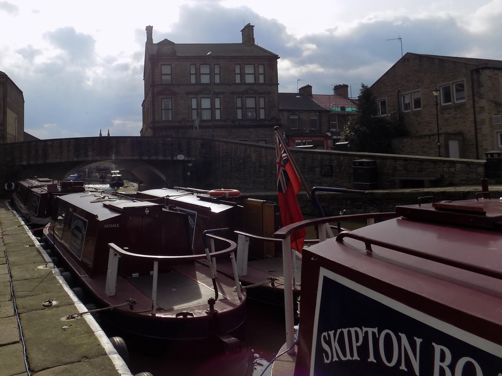 Skipton canal boat