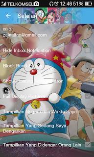 BBM Mod Thema Doraemon v3.0.0.18 Clone Apk Terbaru