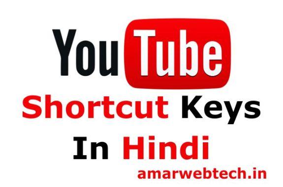 Youtube Shortcuts Keys in Hindi